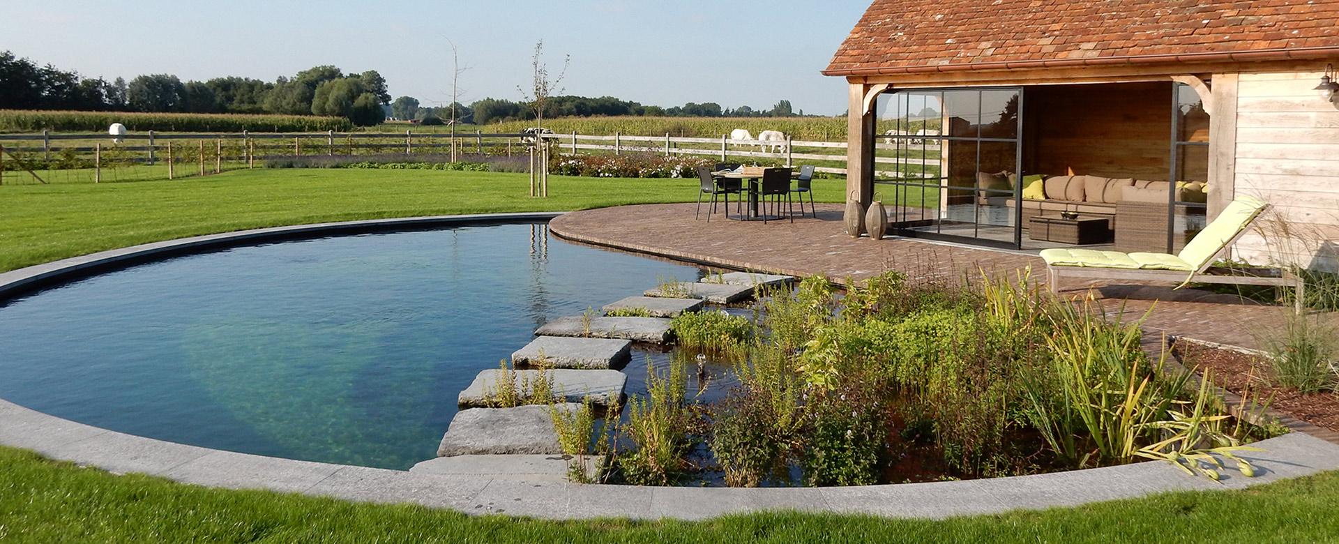 Zwembaden zwemvijvers siervijvers en waterelementen for Zwemvijver filtersysteem